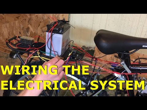 80cc 2-Stroke Motorized Bike Build EP18 - Wiring The Electrical System