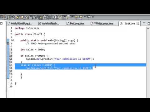 Java Tutorial 6: Else If
