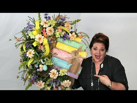 My Wreath Making of the Month Club - March 2017 Easter Wreath Tutorial