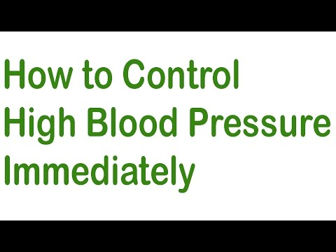 how to control👍high blood pressure immediately👌How to lower blood pressure quickly and naturally