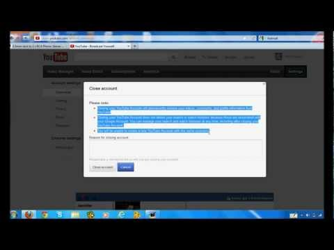 A quick Tutorial showing you How to Delete a Youtube account