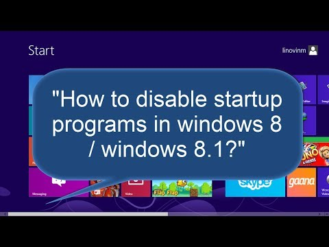 How to startup programs in windows 8 / windows 8.1?