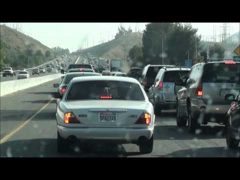 Answer to why there is so much traffic in California - Bad drivers on the freeway