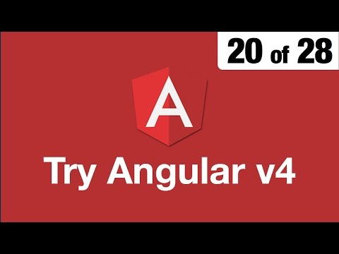 Try Angular v4 // 20 of 28 // Passing Data to Components