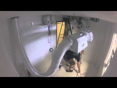 Indoor Grow Room and Hydroponic System Setup Time-lapse