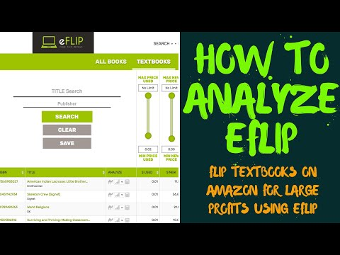 eFlip Tutorial - How To Analyze, Buy and Sell Textbooks On Amazon FBA In 2018