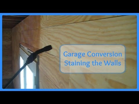Garage Conversion - Staining the Walls