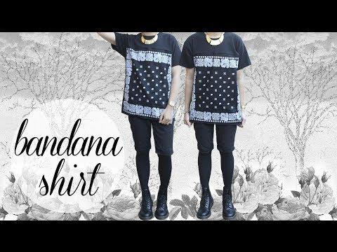 DIY: Paisley Bandana Tee Shirt + OOTD!