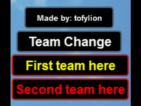 Team Changing Gui in ROBLOX