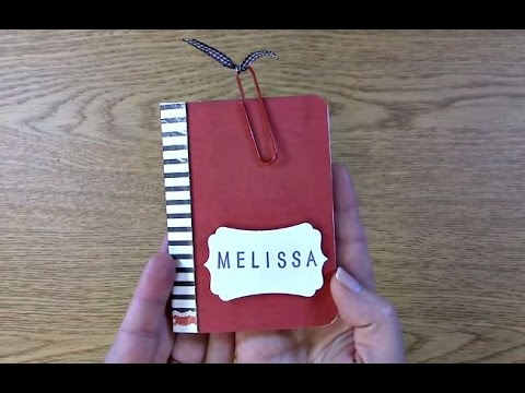 #21 Create Your Own Pocket Mini Journal, Planner, Date Book or Notebook
