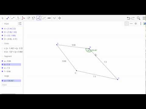Constructing a kite using geogebra