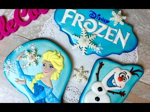 FROZEN COOKIES: ELSA and OLAF | Cookie decoratign video | TALECOOKIES by Tanya Dur