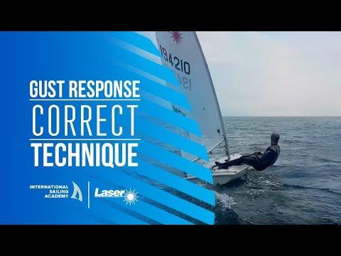 Laser Sailing: Gust Response - Correct Technique