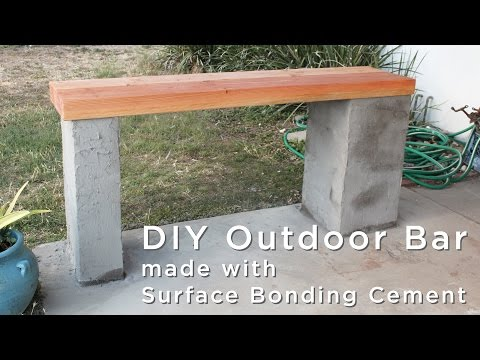 How to make an outdoor bar using surface bonding cement