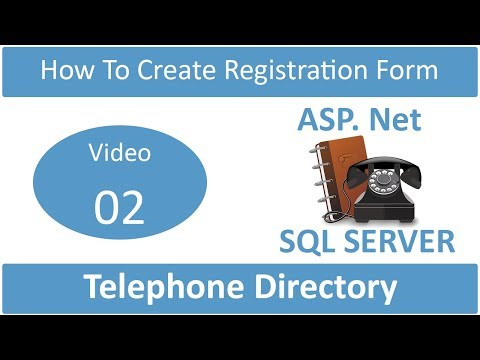 how to create registration form in telephone directory