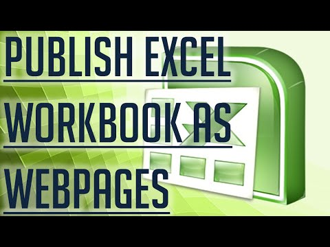 [Free Excel Tutorial] PUBLISH EXCEL WORKBOOK AS WEBPAGES - Full HD