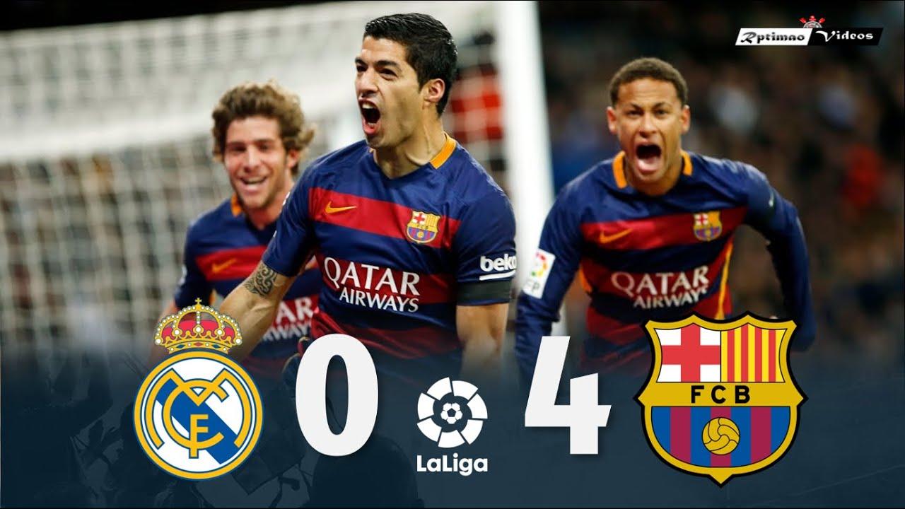 Real Madrid 0 x 4 Barcelona ● La Liga 15/16 Extended Goals & Highlights HD