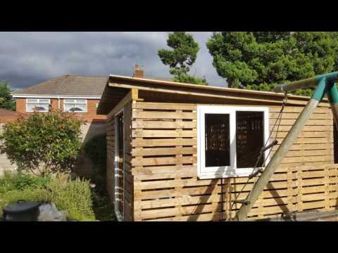 Pallet shed build