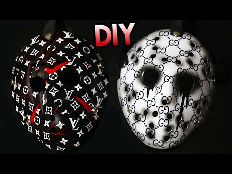 HOW TO: CUSTOMIZE A JASON HOCKEY MASK USING VINYL ! SUPER EASY!