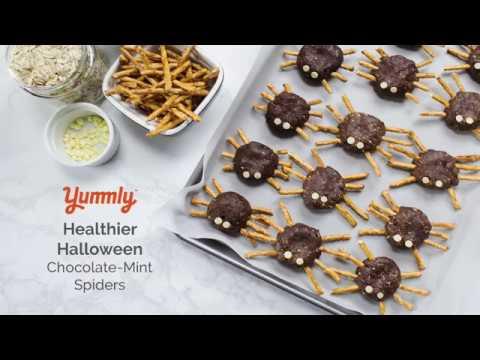 Healthier Halloween: Spooky Chocolate-Mint Spiders