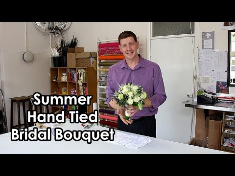 Early Summer Hand Tied Bridal Bouquet - Roses, Peonies, Parrot Tulips -