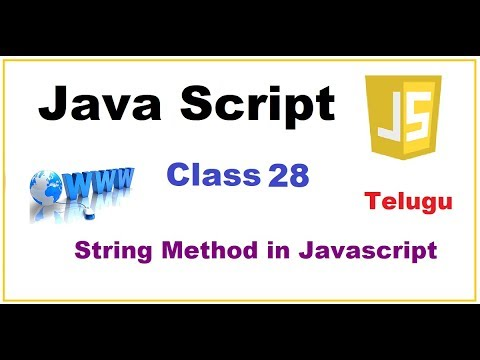 More String Methods in Javascript    --  Telugu 27-vlr training