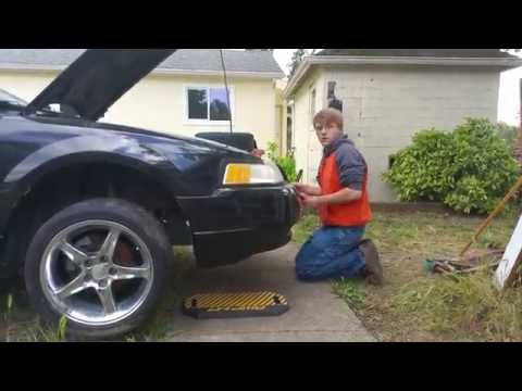 How to remove a 2001 Mustang Front Bumper Cover