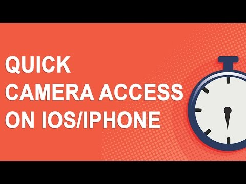 Quick camera access on iOS/iPhone