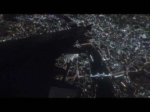 Stunning Night Approach into London Heathrow | British Airways Airbus A319