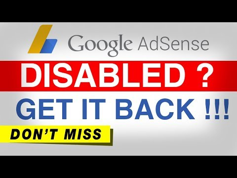 Google Adsense Account Disabled 2017