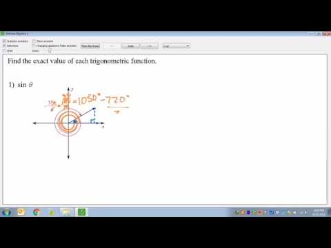 Common Core Math Finding Trig Functions From Any Angle