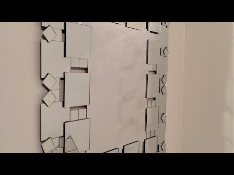 DIY | Frameless Decorative Wall Mirror