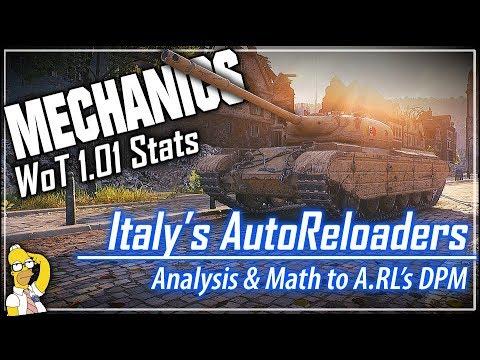 MECHANICS 🔧 AutoReloaders - Analysis & Math to A.RL's DPM || World of Tanks