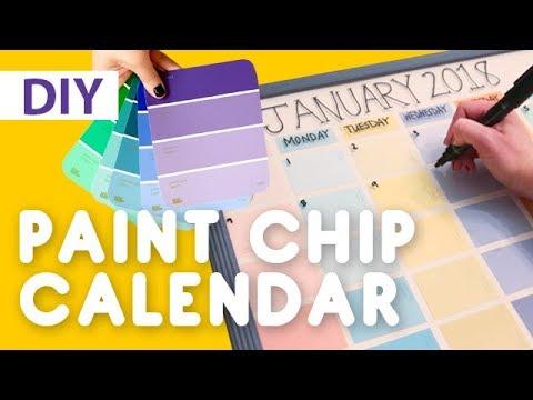 DIY Paint Chip Calendar | ArtsyPaints