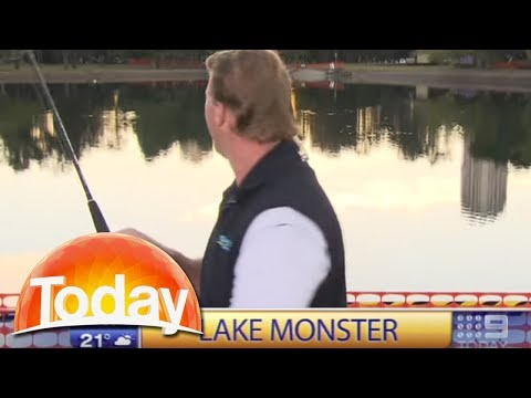 Fishing segment on live tv goes horribly wrong