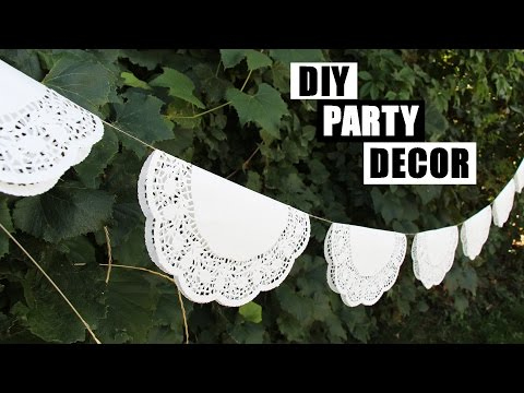 DIY Party Decorations | DIY Room Decor Garland | DIY Birthday Party Decorations