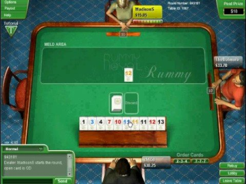 Rummy with tiles