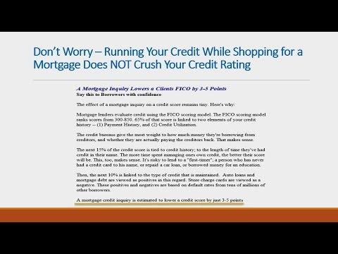 Shopping For A Mortgage Does NOT Crush Your Credit Score!