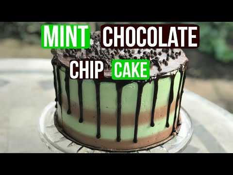 How To Make a MINT CHOCOLATE CHIP CAKE - BAKING WITH RYAN Episode 55