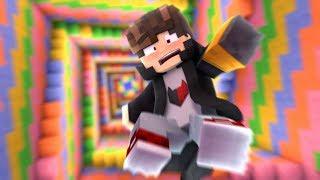 Minecraft: CAI EM UM ARCO IRIS INFINITO  ‹ JUAUM ›