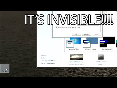 How to Change Your Desktop and Taksbar Icons (or make them invisible!)