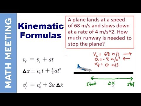 Kinematics - Physics intro and example problem