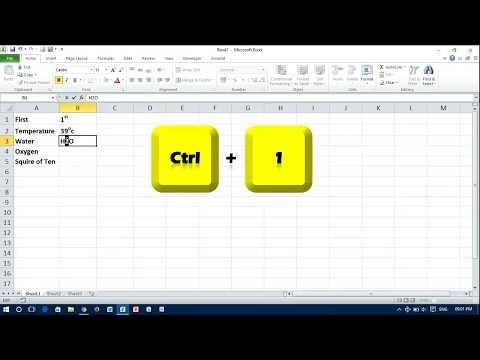 Apply Superscript & Subscript in Excel