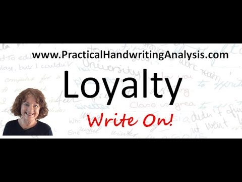 How to identify Loyalty from Handwriting Analysis - Graphology