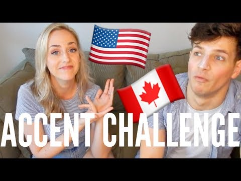 Canadian vs American Accent! | MARRIED COUPLE