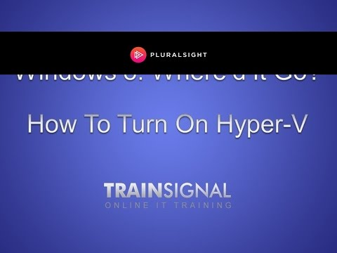 How to turn on Hyper-V in Windows 8 in less than 1 minute