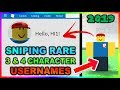 Sniping RARE 3 4 Character Usernames In 2019
