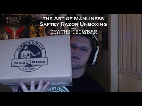 Official Art of Manliness Safety Razor Kit Unboxin