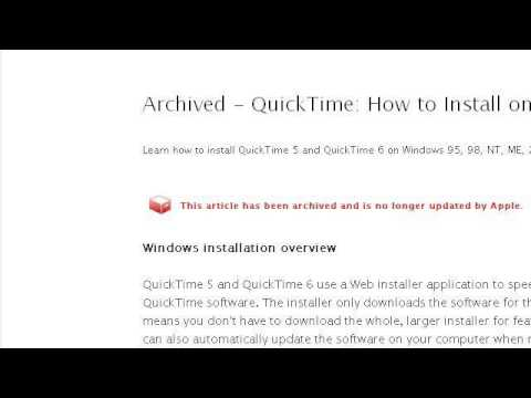How-To Install Quicktime And Itunes Without An Internet Connection