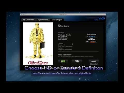 VUDU to Go -  Disc to Digital Service